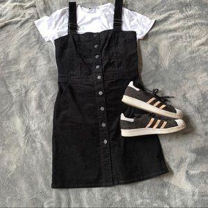 Gap // Black Corduroy Button Front Dress // NWOT